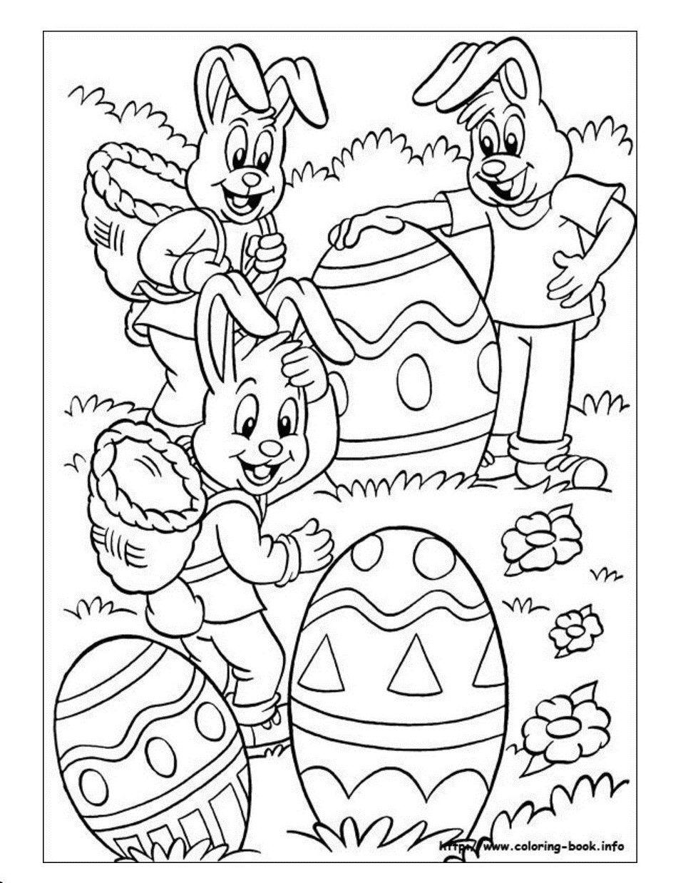 Grote Eieren Knutselen Pasen Kleurboek Kleurrijke Tekeningen