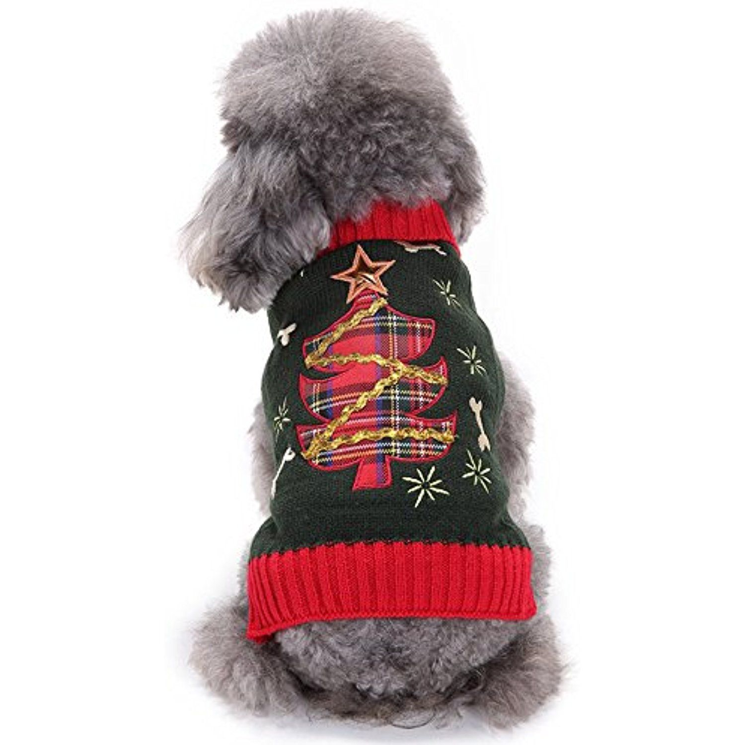 Dog Cat Sweater Dog Christmas Costume Outfits Winter Warm Small Dog ...