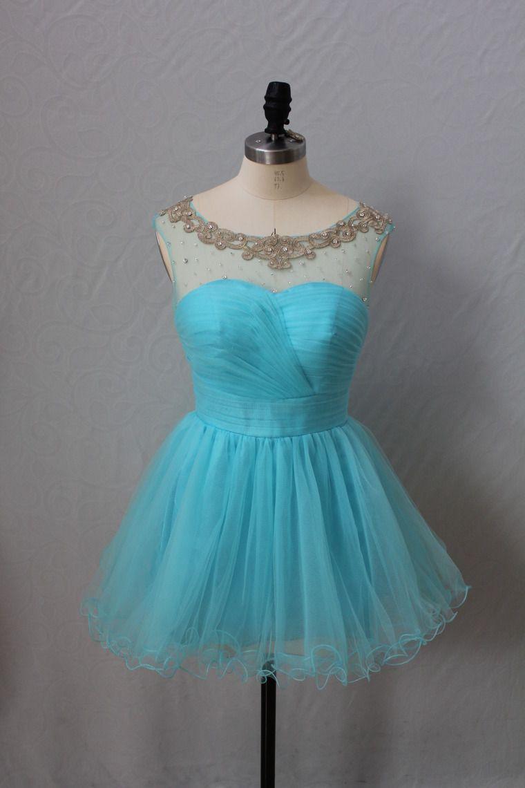 $109.99 2013 Homecoming Dresses Blue Short Mini for sale