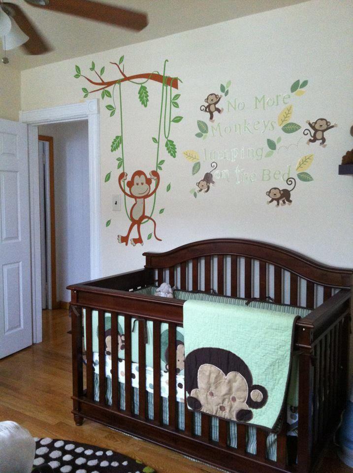 Baby S Monkey Themed Room Monkey Nursery Room Themes Baby Nursery