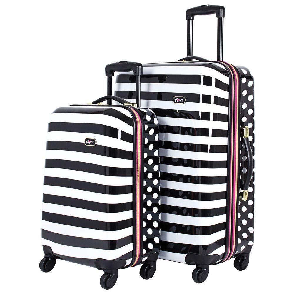 2e7fcdddc00c Rosetti Summer Breeze 2-Piece 4-Wheeled Expandable Luggage Set ...