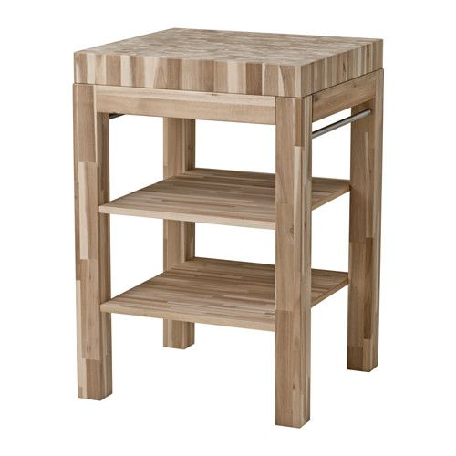 ikea skogsta butcher 39 s block table acacia 64x60 cm the wood surface is durable yet also gentle. Black Bedroom Furniture Sets. Home Design Ideas