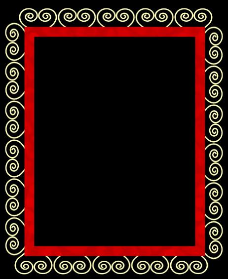 Red Black And White Frame Borders And Frames Bond Paper Design