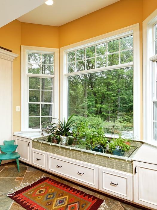 Bay Window Decorating Ideas Melodyhomecom Craftsman Interior - Indoor-garden-design-ideas