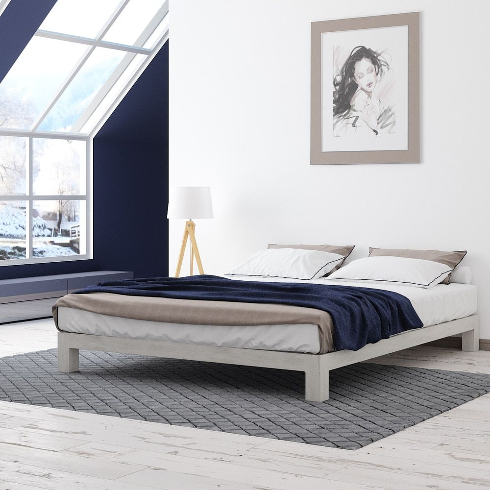 motif design aura white platform bed  white platform bed motif  - motif design aura white platform bed