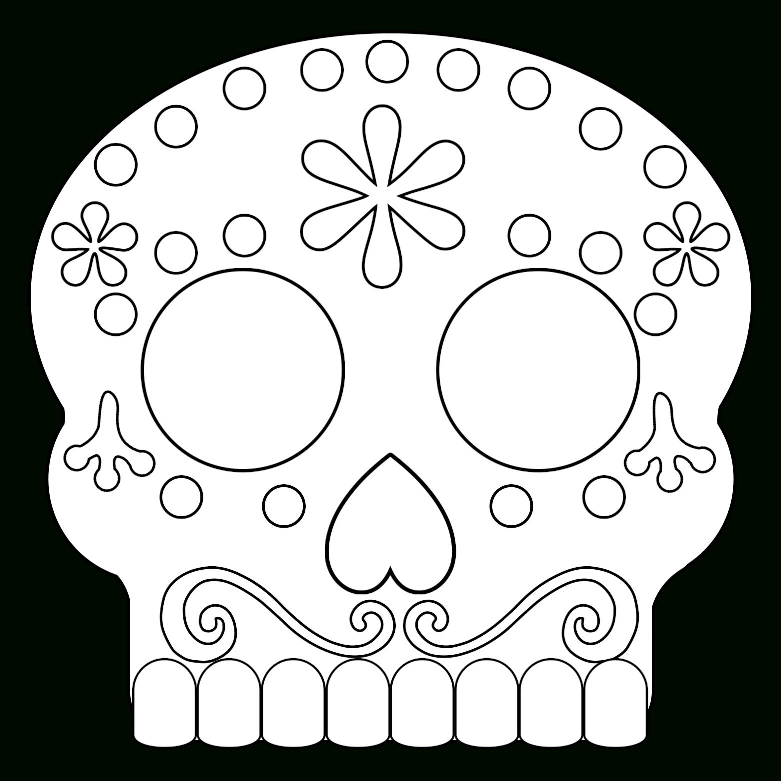Day Of The Dead Masks Sugar Skulls Free Printable Paper In Blank Sugar Skull Template Best Professional Skull Template Day Of The Dead Mask Printable Paper