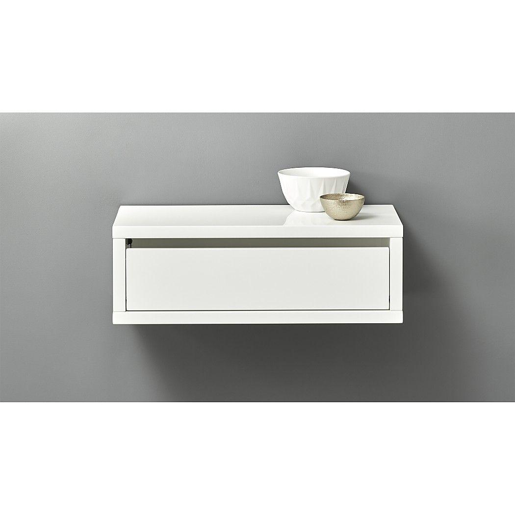 Slice White Wall Mounted Shelf Tofino Bathroom
