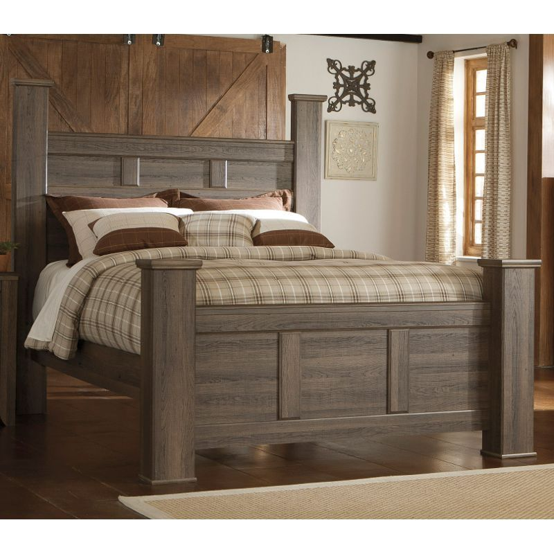 Best Rustic Modern Driftwood Brown Queen Bed Fairfax Rustic 640 x 480