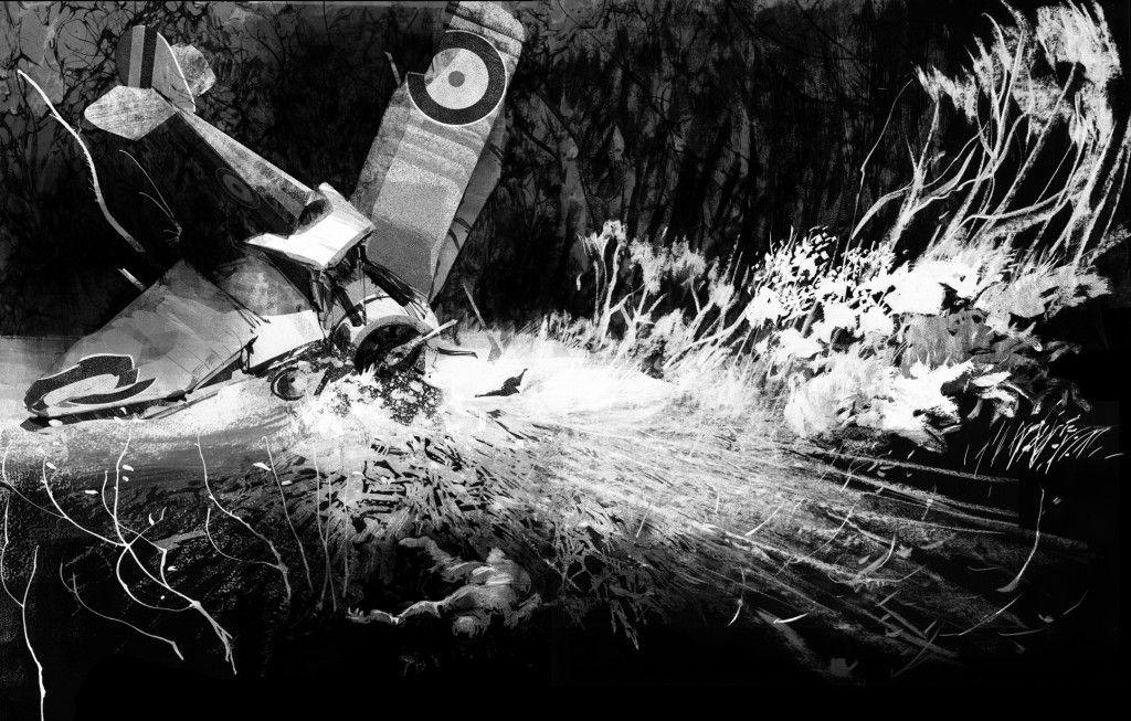 Fallen Aircraft, from 'The Great War', Walker Books.