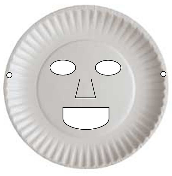 Paper plate mask -- inspiration for many faces. Could also be animals such as one of the 3 Billy Goats Gruff The Little Red Hen etc.  sc 1 st  Pinterest & Paper plate mask -- inspiration for many faces. Could also be ...
