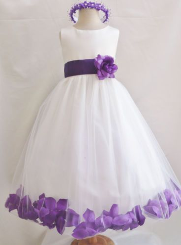 237470ee9d Ivory Purple Lapis Baby Toddler Wedding Party Dancing Birthday Flower Girl  Dress - probably in blue for my (future) wedding but I love the design!