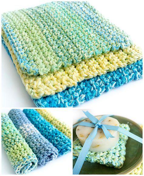 Easy Thick Crochet Wash & Dishcloths | Klepper, Klitzeklein und Diy ...
