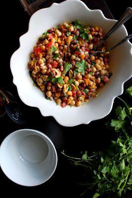 The taste of Myriam !: Beans salad & Tahini dressing | Salade de légumineuses & Vinaigrette au beurre de sésame