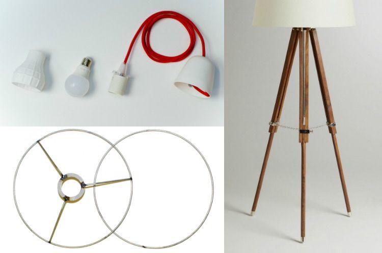 Lampenschirm Fur Stehlampe Selber Machen Materialien Hilfsmittel