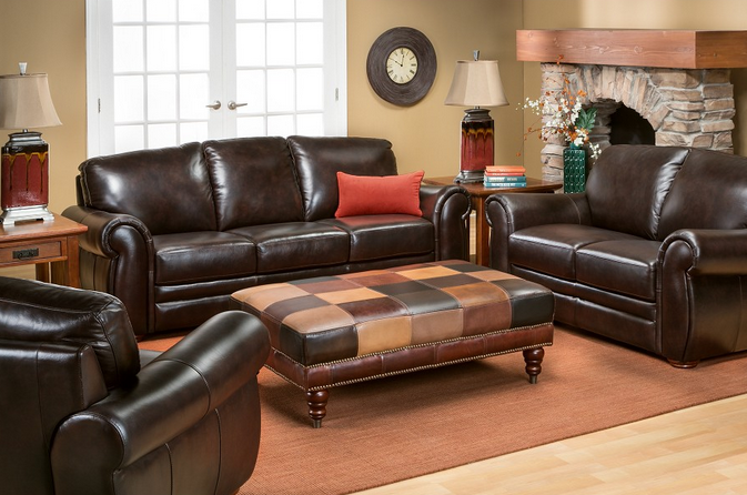 Gallery Collection Leather Sofa From Slumberland Furniture