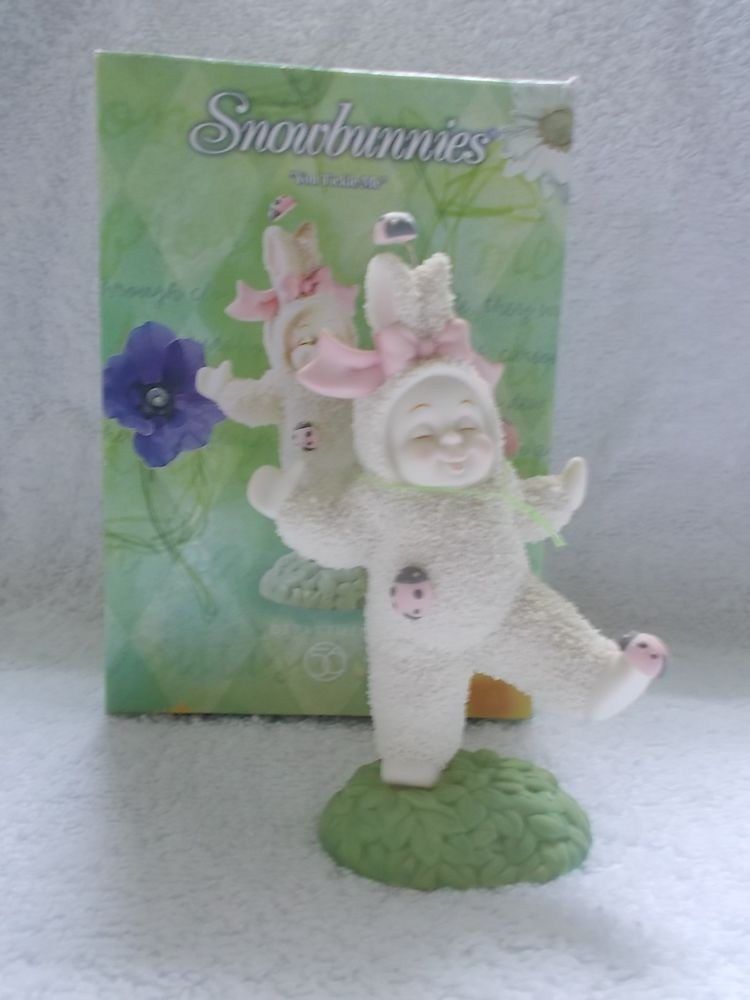 """Dept. 56 Snowbunnies """"You Tickle Me"""" #56.26440 Bunny With Lady Bugs Pink CUTE  #Easter #Snowbunnies #Dept56"""