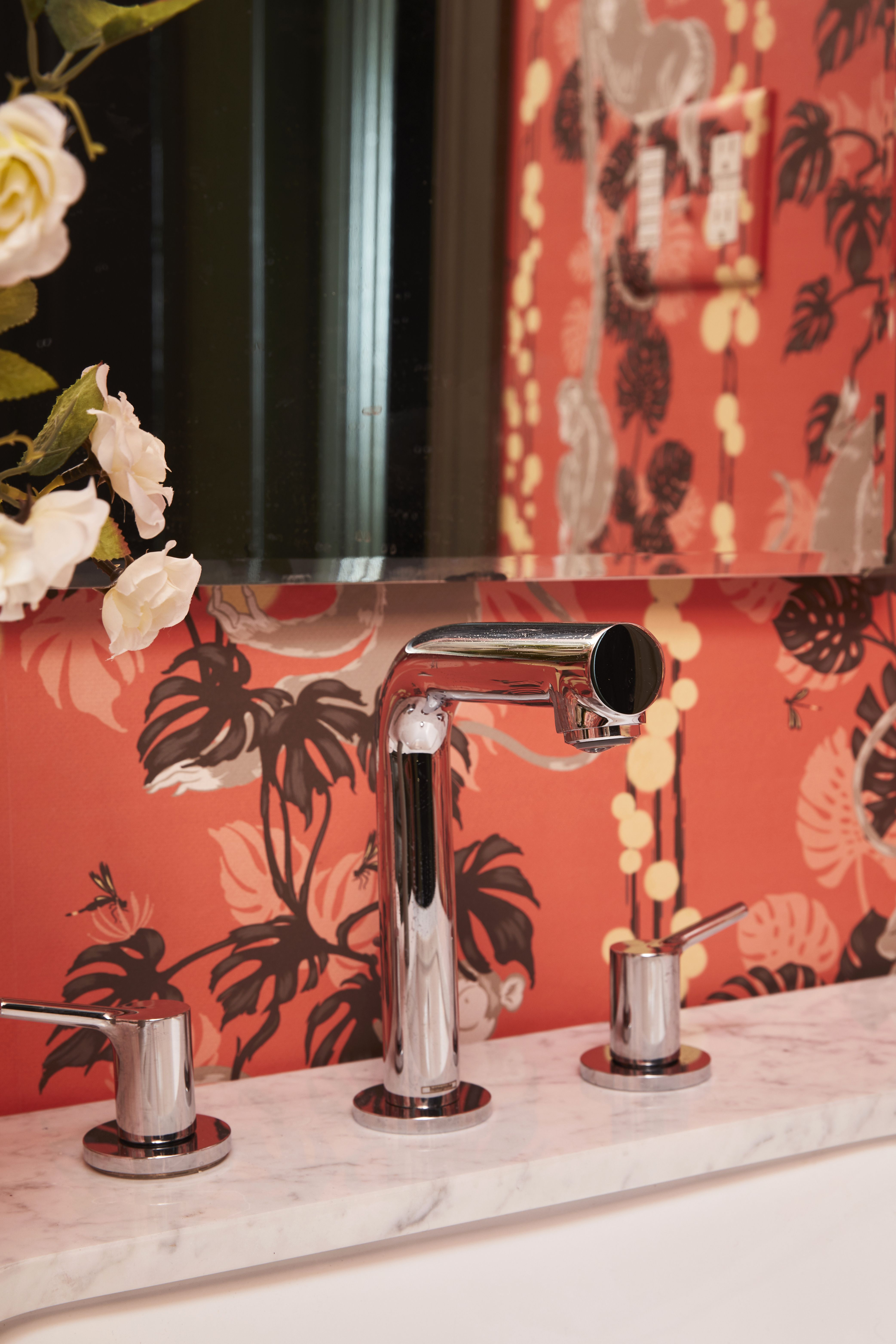 58045c7da hansgrohe Talis S Widespread featured in the One Room Challenge by Old Home  Love. Photo by: Nicole Gerulat