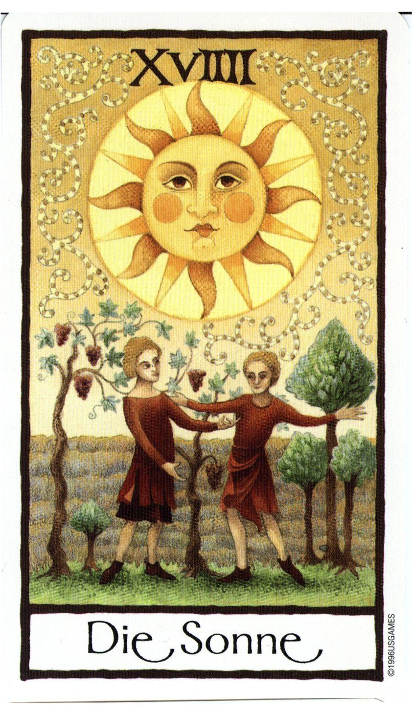 The Sun - Old English Tarot (Die Sonne) | All Things Tarot | The sun