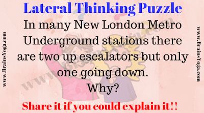 Lateral Thinking Brain Teaser | Lateral thinking. Brain teasers with answers. Brain teasers