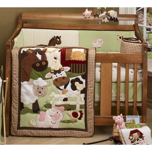 Baby Boy Farm Nursery Babies Crib Bedding Set This 5 Piece Is