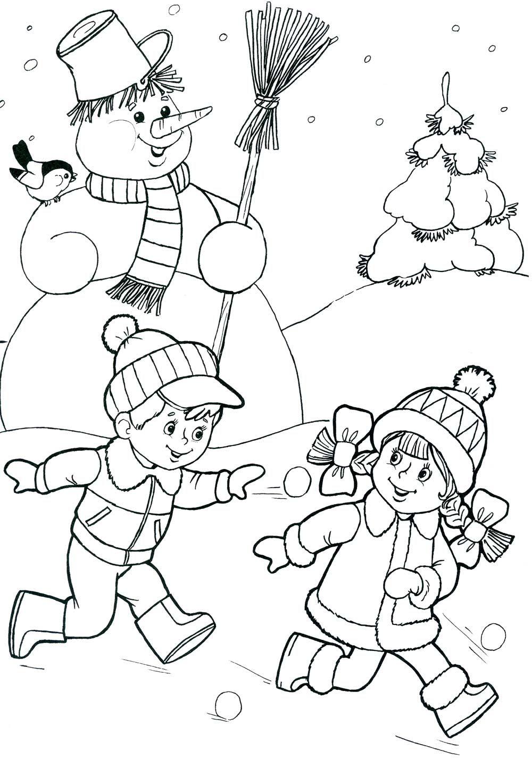 sneeuw kleurplaat voor kleuters рождественские