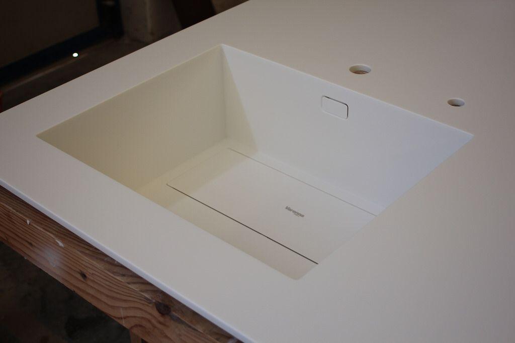 Lavello costruito con angoli raggio 4 mm