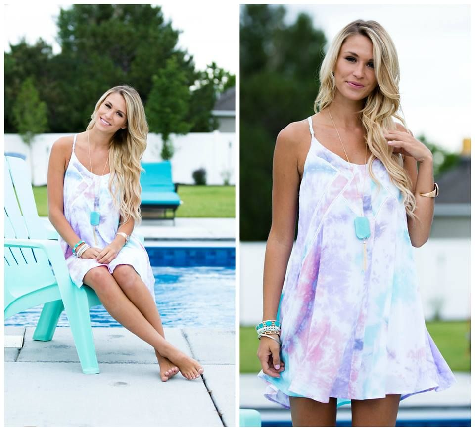 Sophisticated Watercolor Tank Dress