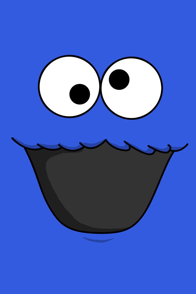 Cookie Monster Wallpaper Cookiemonster Blue Cute Iphone