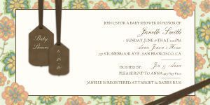 Mixbook Floral Delight Shower Girls Baby Shower Invitations