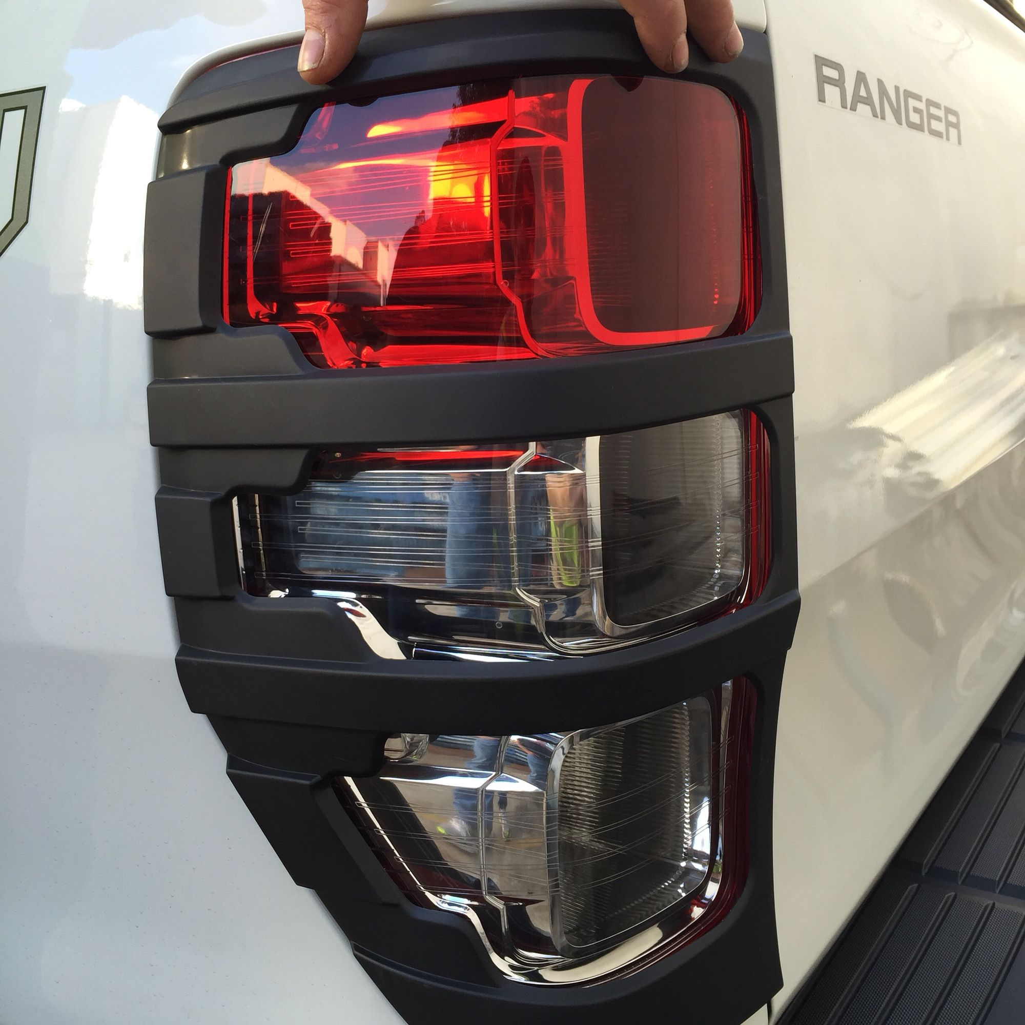 hight resolution of ford ranger px rear light cover black more