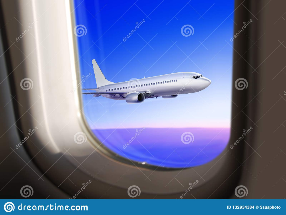 View From The Plane Window Stock Photo Image Of Port 132934384 Commercial Plane Plane Window Plane Photography