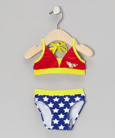562cb6e6509c9 Take a look at this Red & Blue Wonder Woman Bikini - Infant & Toddler by DC  Comics on #zulily today!