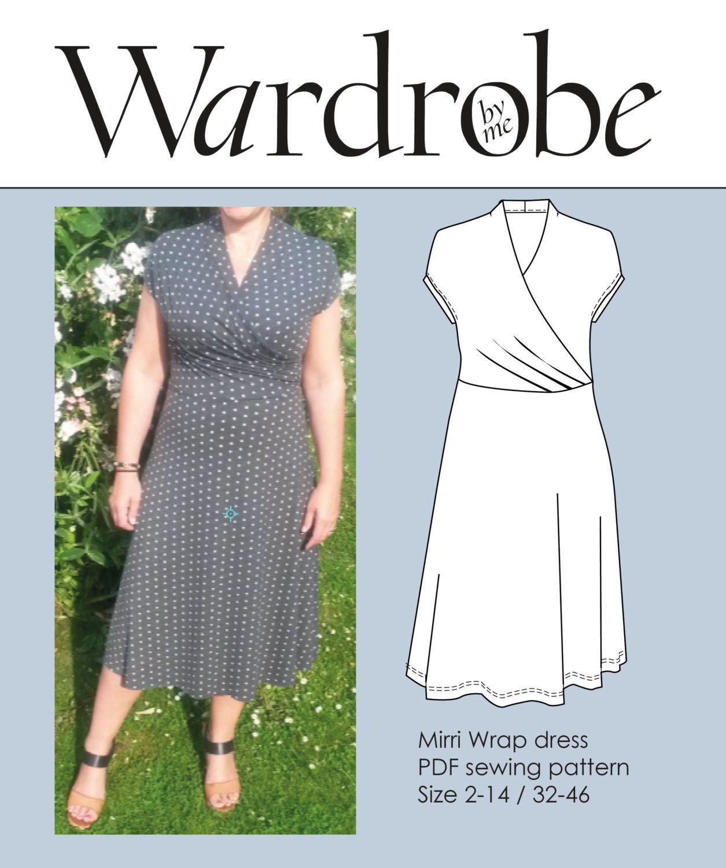 Wrap sewing patterns dress images wrap sewing patterns jeuxipadfo Choice Image