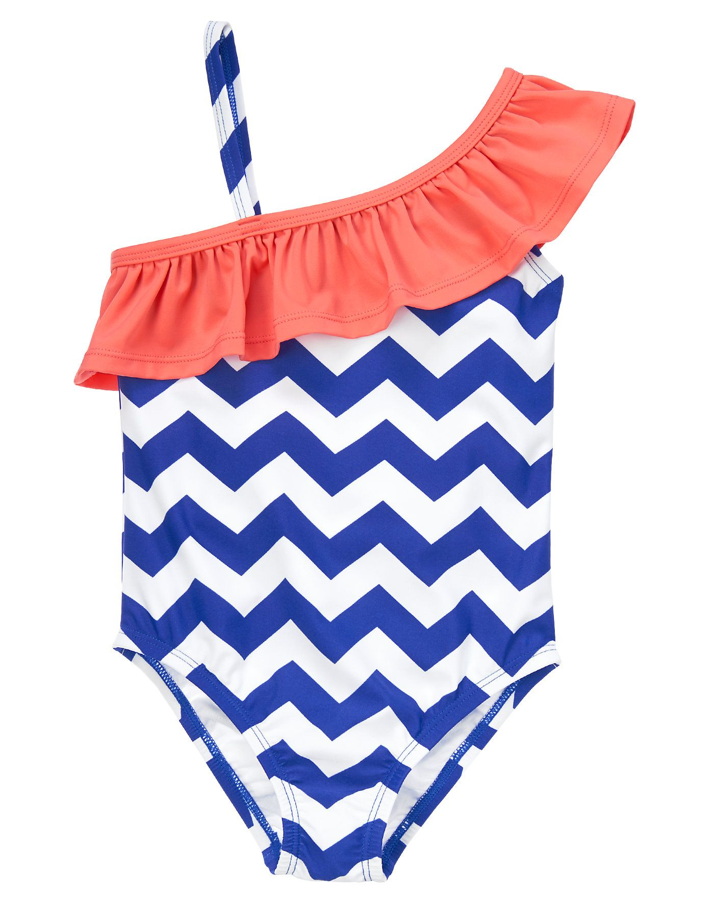 She dives into the season s style in our chevron swimsuit Bright