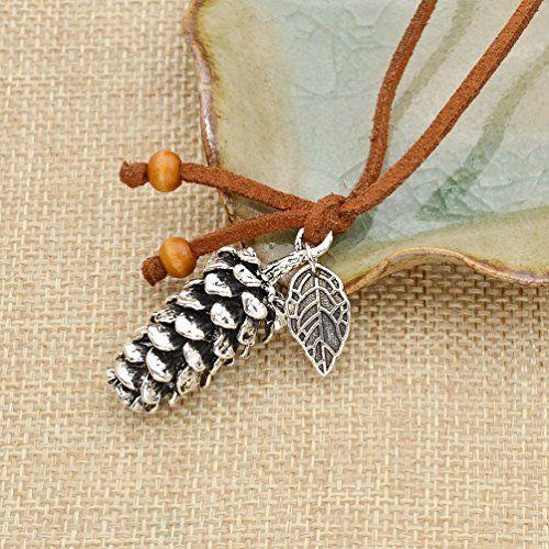 Amazon.com: Vintage Pine Cone Pendant Necklace Acorn Leaf Charm Sweater Necklace Gift 1 Pc: Jewelry