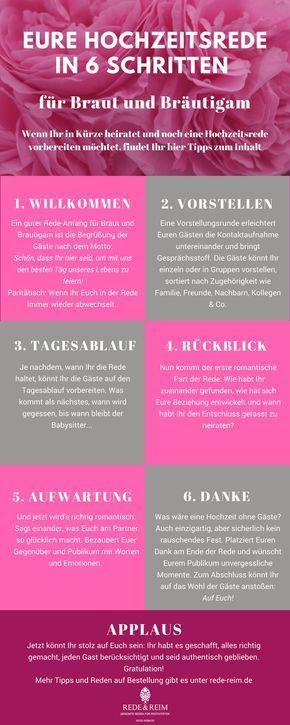Hochzeitsrede Fur Braut Und Brautigam In 6 Schritten Rede Reim Hochzeitsreden Hochzeit Rede Hochzeit