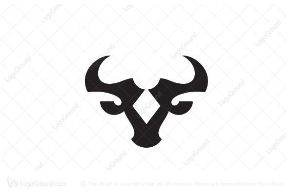 Exclusive Logo 178355, Bull Head Logo Stylish Logo Bull