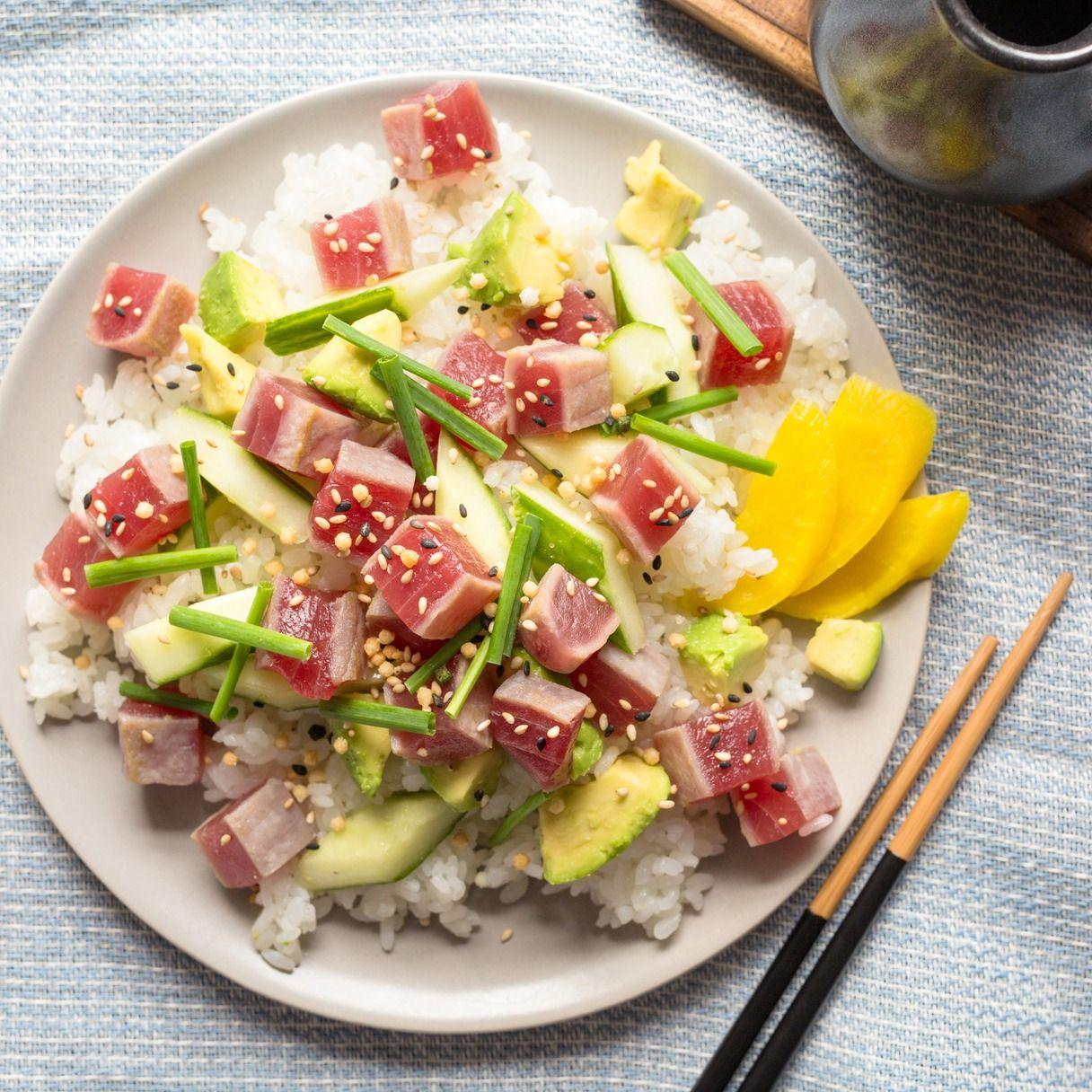 recipe: pan seared tuna with wasabi sauce [11]