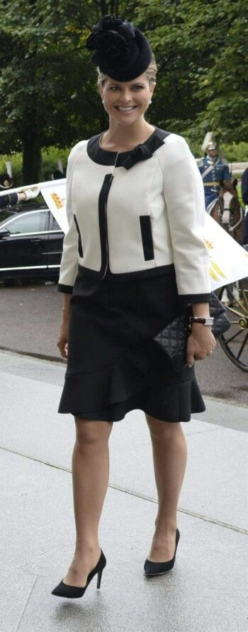 Madeleine's Opening Of Parliament Outfit. September 15, 2015.