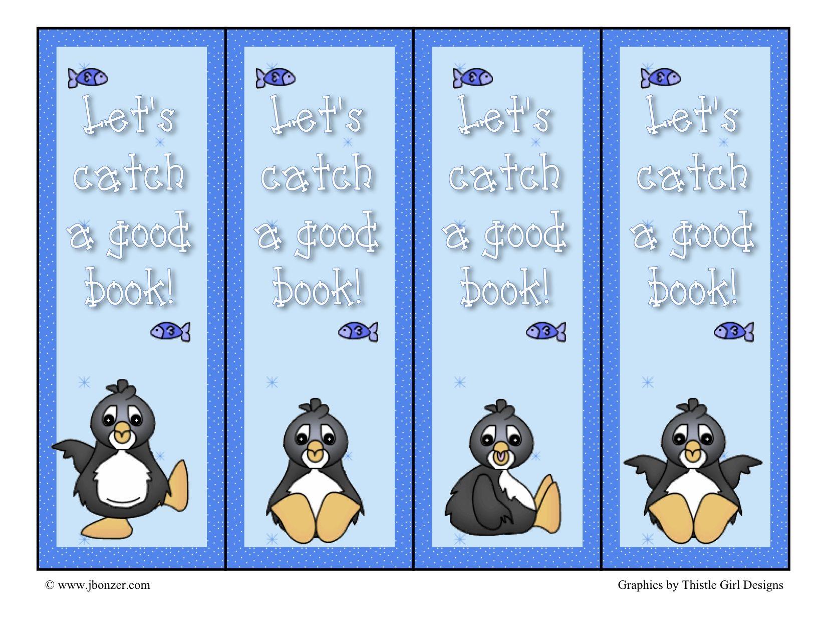 Winter Penguin Bookmark   Fun Classroom Projects   Pinterest
