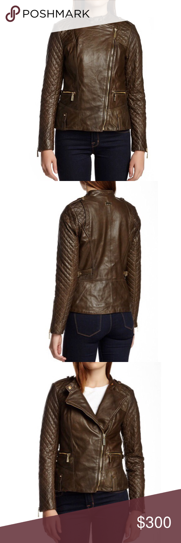 Vince Camuto Leather Quilted Jacket Genuine Leather Jackets Quilted Jacket Lightweight Anorak Jacket [ 1740 x 580 Pixel ]
