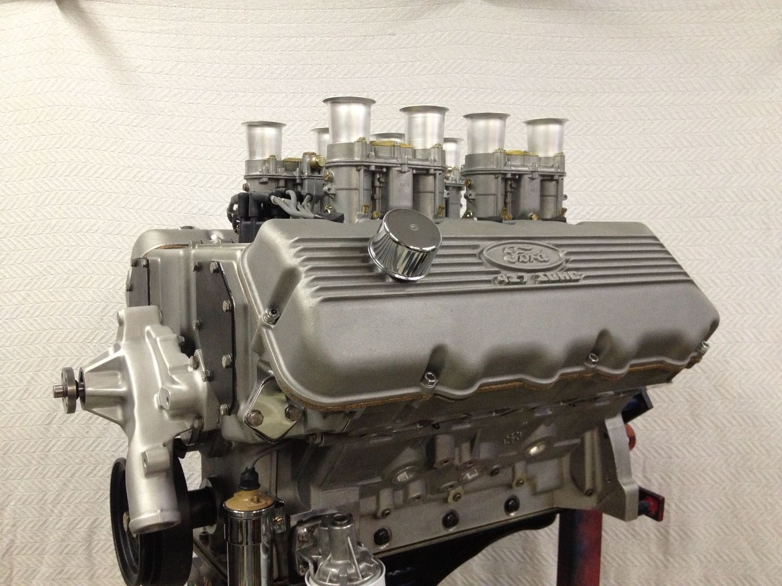 Details About 427 Sohc Ford Engine 504ci Aluminum Block Weber Intake Payment Plans Trades Engineering Ford Ford Racing