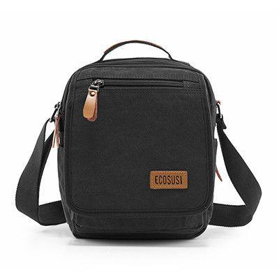 ecosusi 2016 Multifunction Men High Quality Canvas Bag Casual Travel Bolsa Masculina Men's Crossbody Bag Men Messenger Bags