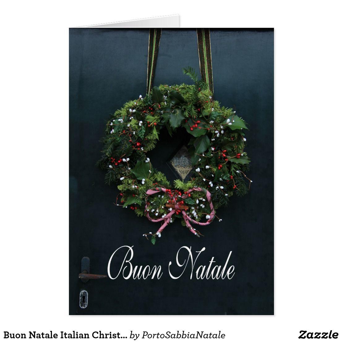 Buon Natale Italian Christmas Card Christmas Cards