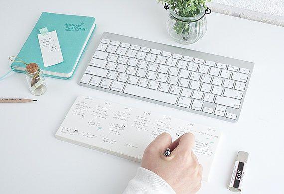 Keyboard Memopad [Weekly Planner] / Weekly Scheduler Notepad / 10759611