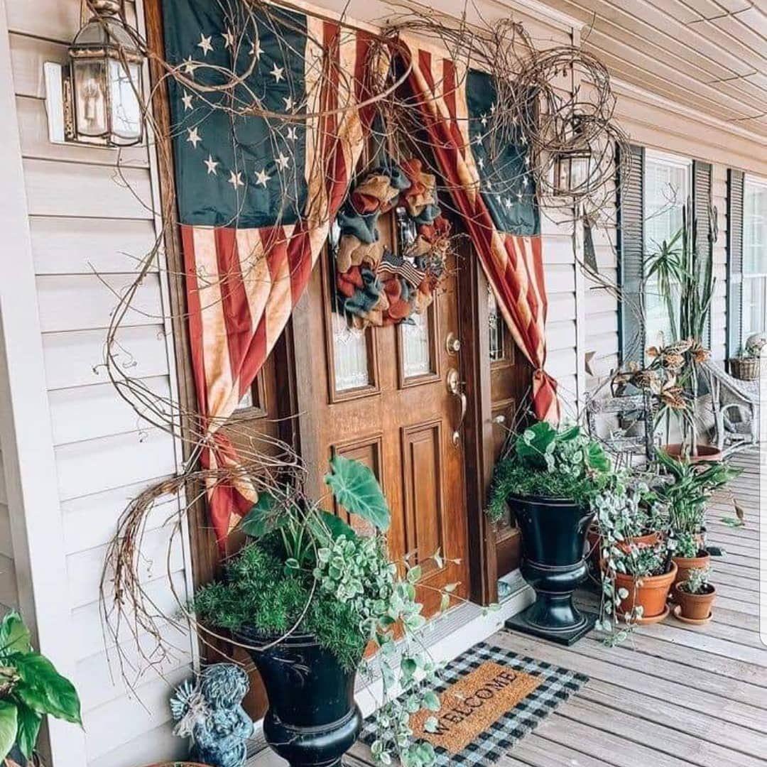 Debbiej On Instagram Americana Porch