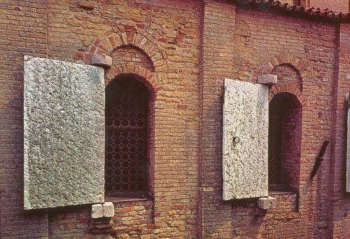 Eleventh century stone shutters of Santa Maria dell'Assunta in Torcello, Venice