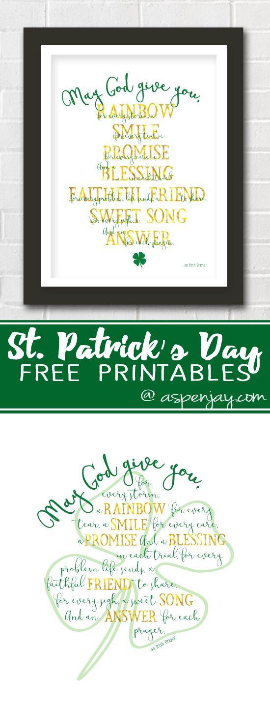 St Patrick S Day Irish Prayer Printable Irish Prayer St