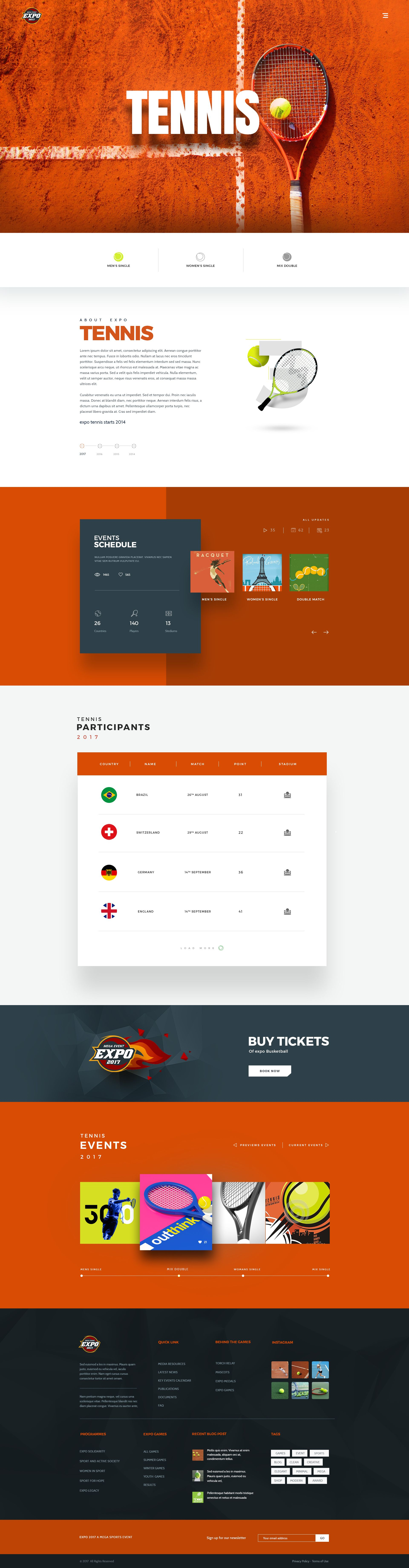 Expo  Multi Sports Event Psd Template