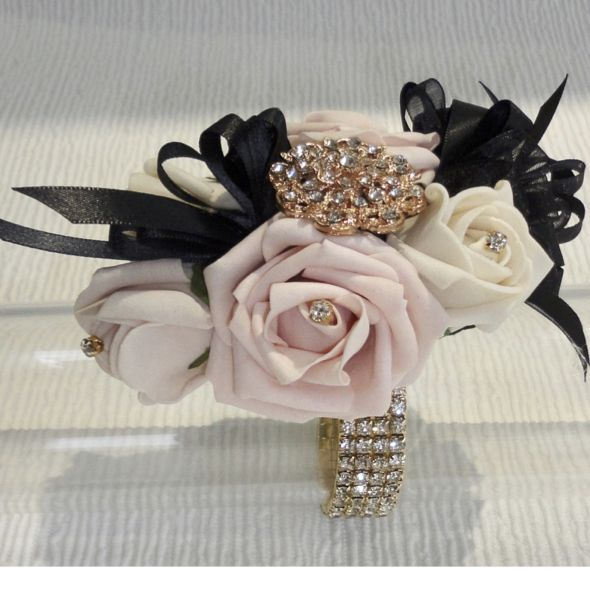 pearls Wedding Flowers Bridesmaid Prom Flower Girl  Hair Comb Roses diamante